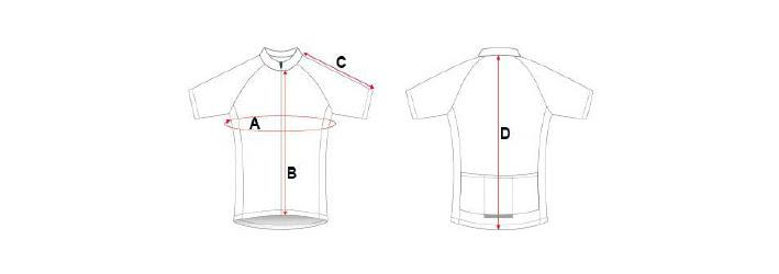 Cycling jersey diagram